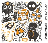 a vector illustration of silly... | Shutterstock .eps vector #1911646654