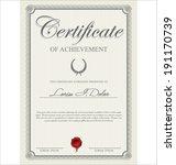 certificate template | Shutterstock .eps vector #191170739