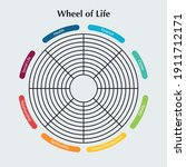 wheel of life template diagram. ...   Shutterstock .eps vector #1911712171