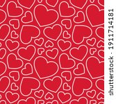 hearts seamless pattern.... | Shutterstock .eps vector #1911714181
