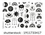 set of hand drawn black... | Shutterstock .eps vector #1911733417