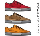 cool shoe vector set  vector... | Shutterstock .eps vector #1911756661