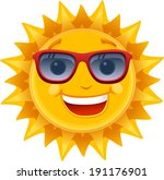 vector happy sun smiling  ... | Shutterstock .eps vector #191176901