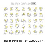 security company. collection of ...   Shutterstock .eps vector #1911803047