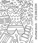 coloring page alphabet for kids ... | Shutterstock .eps vector #1911861034