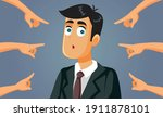 hands pointing to a confused...   Shutterstock .eps vector #1911878101