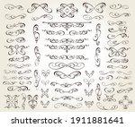 set of floral decorative... | Shutterstock .eps vector #1911881641