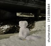Cute Snowman And Winter Kids