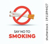 no smoking sign or icon. ban on ... | Shutterstock .eps vector #1911894427