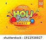 illustration of holi flyer...   Shutterstock .eps vector #1911938827