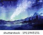 Amazing Watercolor Landscape Of ...