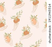 seamless pattern with citrus... | Shutterstock .eps vector #1911945514
