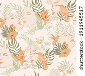 seamless pattern with blooming... | Shutterstock .eps vector #1911945517