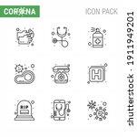 coronavirus awareness icon 9... | Shutterstock .eps vector #1911949201