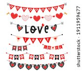 valentines day red vector...   Shutterstock .eps vector #1911959677