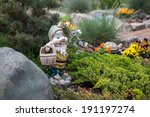 Funny Garden Gnome Standing...