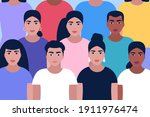 group of people gathering... | Shutterstock .eps vector #1911976474