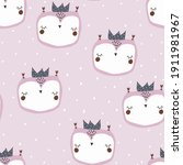 seamless baby pattern with... | Shutterstock .eps vector #1911981967