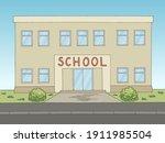 school building front view...   Shutterstock .eps vector #1911985504