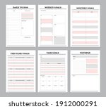 6 set of daily  weekly  monthly ... | Shutterstock .eps vector #1912000291