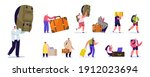 set tourists characters with... | Shutterstock .eps vector #1912023694