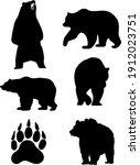 the bears. wildlife animals....   Shutterstock .eps vector #1912023751