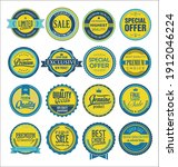 collection of vintage labels... | Shutterstock . vector #1912046224