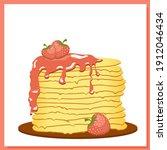 pancakes. strawberry jam....