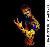 Body Art Glowing In Ultraviole...