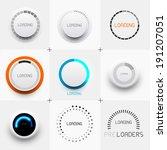 set of preloaders   for loading ... | Shutterstock .eps vector #191207051