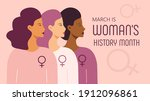 woman history month concept...   Shutterstock .eps vector #1912096861