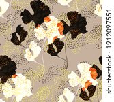beautiful seamless floral... | Shutterstock . vector #1912097551