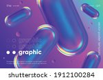 3d fluid shapes with... | Shutterstock .eps vector #1912100284