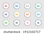circular bullet points numbers... | Shutterstock .eps vector #1912102717