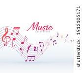 musical pentagram background... | Shutterstock .eps vector #1912105171