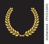 realistic golden vector laurel...   Shutterstock .eps vector #1912112641