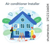 air conditioning repair and...   Shutterstock .eps vector #1912116604