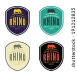 rhinoceros emblem for your... | Shutterstock .eps vector #191212835