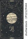 planet jupiter  linear hand... | Shutterstock .eps vector #1912129444