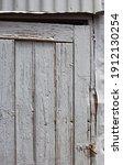 Grey Painted Wooden Door On A...