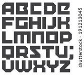 vector geometric font. square... | Shutterstock .eps vector #191213045