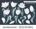 big set of spring flowers ...   Shutterstock .eps vector #1912131841