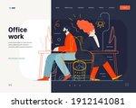 business topics   office work ... | Shutterstock .eps vector #1912141081