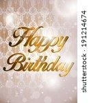 vector   happy birthday... | Shutterstock .eps vector #191214674