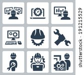 engineering vector icons set | Shutterstock .eps vector #191215529
