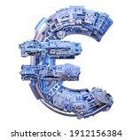 euro 3d sign. digital cyber...