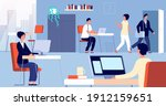 people leave office. employee... | Shutterstock .eps vector #1912159651