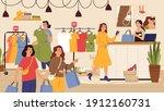 fashion store. female shop ... | Shutterstock .eps vector #1912160731