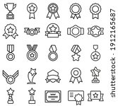 awards icon vector set. trophy...   Shutterstock .eps vector #1912165687