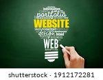 website light bulb word cloud ...